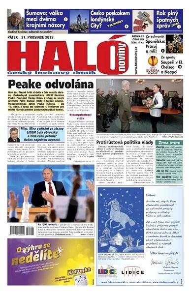 Haló noviny - 21_12_2012 - Elektronické noviny