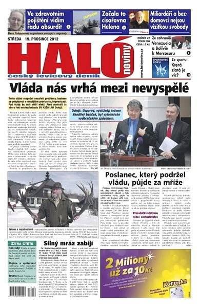 Haló noviny - 19_12_2012 - Elektronické noviny