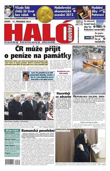 Haló noviny - 11_12_2012 - Elektronické noviny