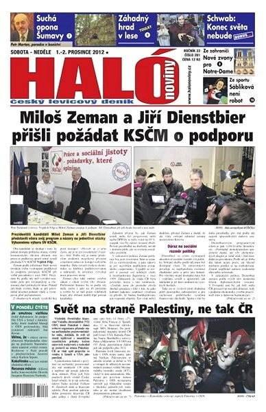 Haló noviny - 01_12_2012 - Elektronické noviny