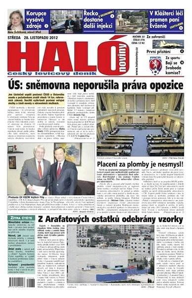 Haló noviny - 28_11_2012 - Elektronické noviny