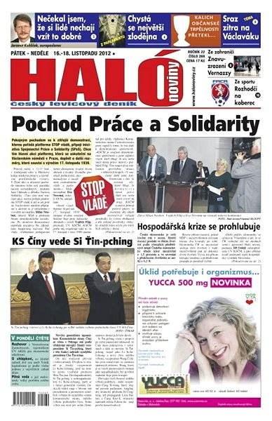 Haló noviny - 16_11_2012 - Elektronické noviny