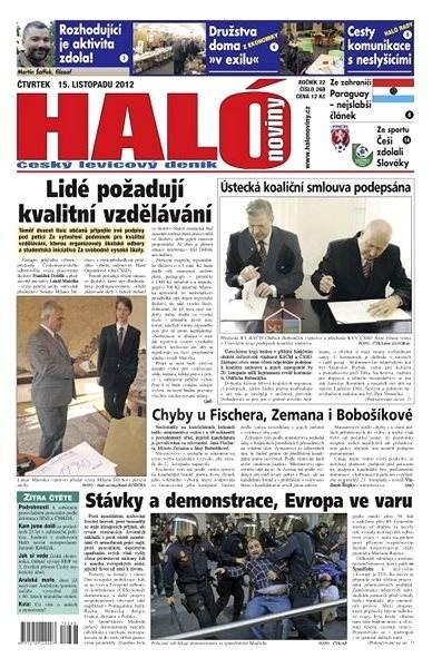 Haló noviny - 15_11_2012 - Elektronické noviny
