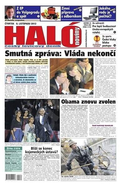 Haló noviny - 08_11_2012 - Elektronické noviny