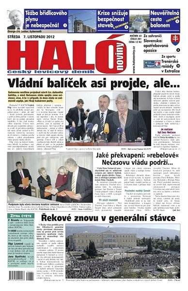 Haló noviny - 07_11_2012 - Elektronické noviny