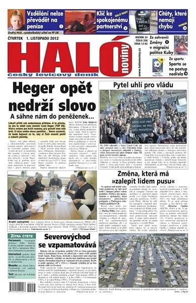 Haló noviny - 01_11_2012 - Elektronické noviny