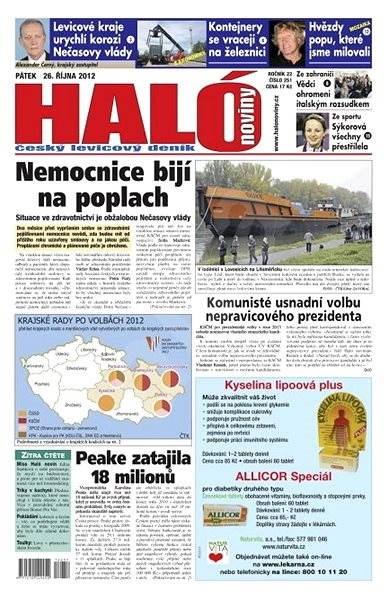 Haló noviny - 26_10_2012 - Elektronické noviny