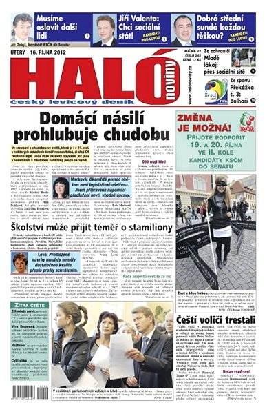 Haló noviny - 16_10_2012 - Elektronické noviny