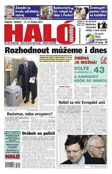 Haló noviny - 13_10_2012 - Elektronické noviny