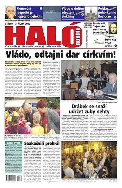 Haló noviny - 03_10_2012 - Elektronické noviny