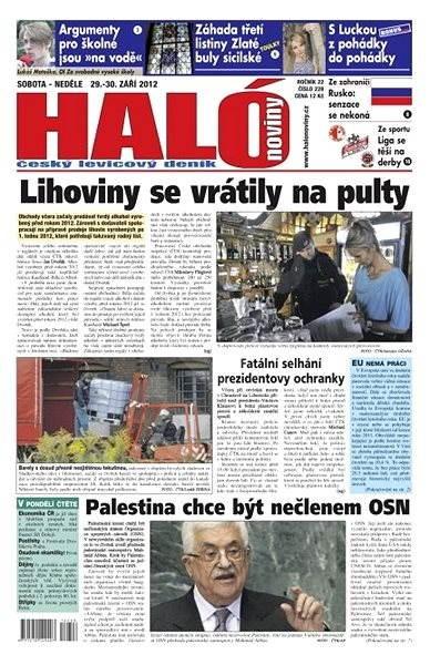 Haló noviny - 29_09_2012 - Elektronické noviny