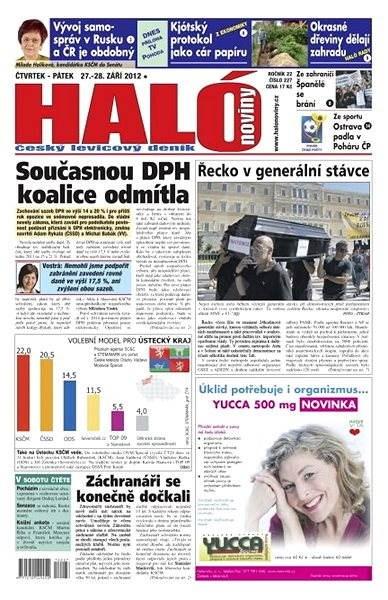 Haló noviny - 27_09_2012 - Elektronické noviny