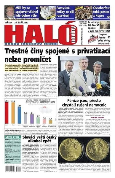 Haló noviny - 26_09_2012 - Elektronické noviny