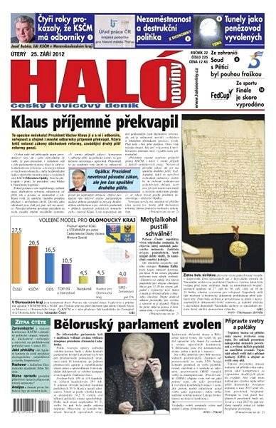 Haló noviny - 25_09_2012 - Elektronické noviny