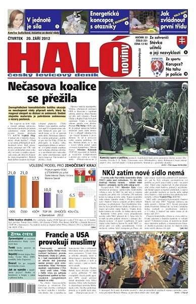 Haló noviny - 20_09_2012 - Elektronické noviny