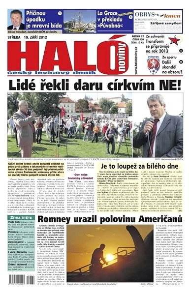 Haló noviny - 19_09_2012 - Elektronické noviny