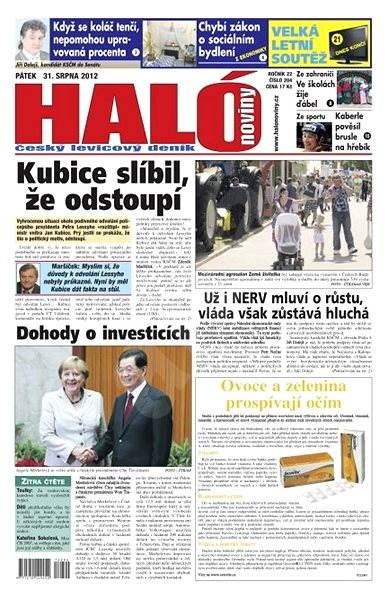 Haló noviny - 31_08_2012 - Elektronické noviny