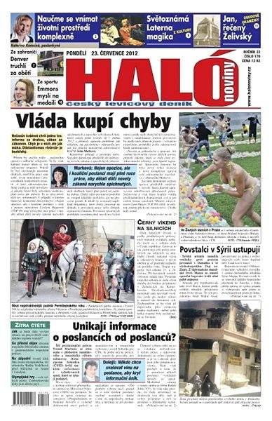 Haló noviny - 23_07_2012 - Elektronické noviny