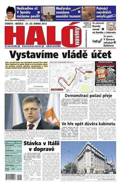 Haló noviny - 21_04_2012 - Elektronické noviny