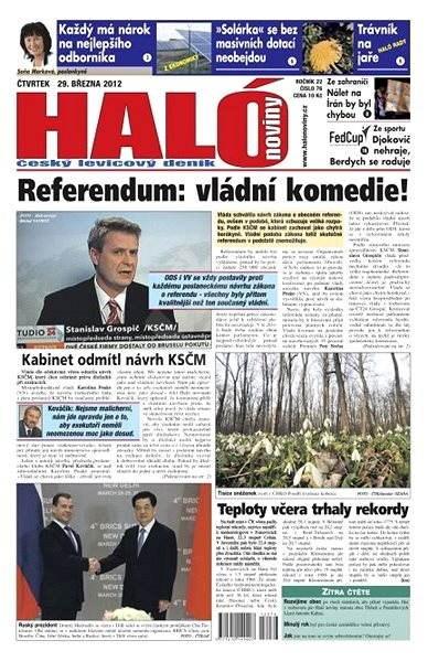 Haló noviny - 29_03_2012 - Elektronické noviny