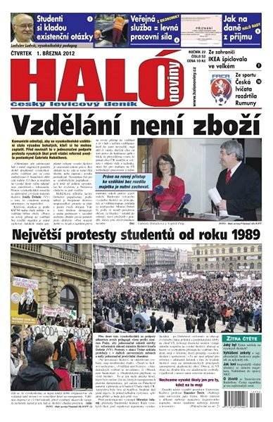 Haló noviny - 01_03_2012 - Elektronické noviny