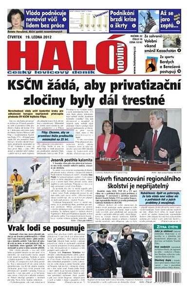 Haló noviny - 19_01_2012 - Elektronické noviny