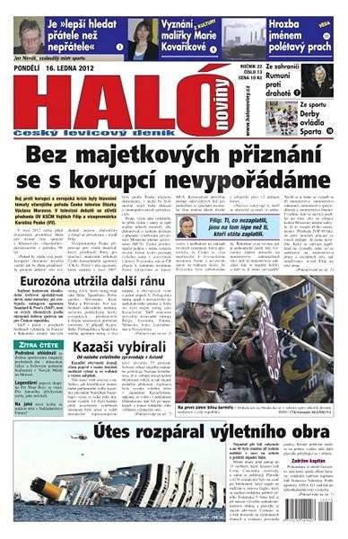 Haló noviny - 16_01_2012 - Elektronické noviny