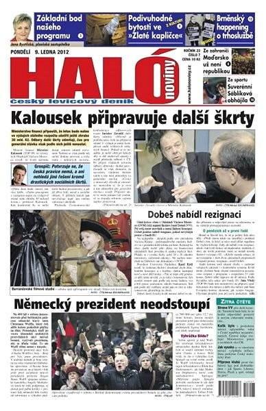 Haló noviny - 09_01_2012 - Elektronické noviny