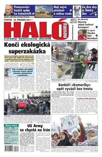 Haló noviny - 22_12_2011 - Elektronické noviny