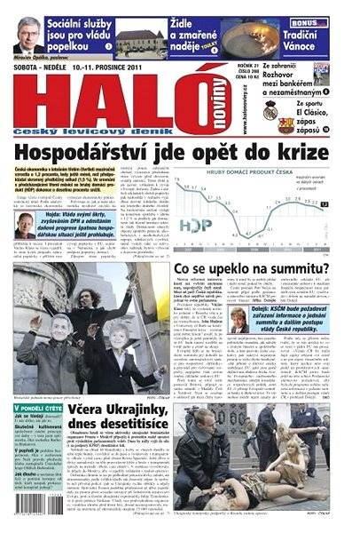 Haló noviny - 10_12_2011 - Elektronické noviny