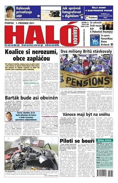 Haló noviny - 01_12_2011 - Elektronické noviny