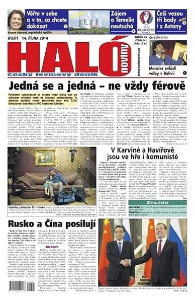 Haló noviny - 14_10_2014 - Elektronické noviny