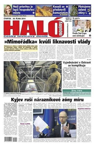 Haló noviny - 30_10_2014 - Elektronické noviny