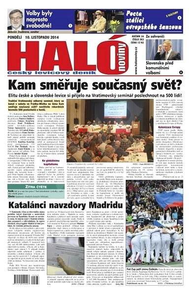 Haló noviny - 10_11_2014 - Elektronické noviny