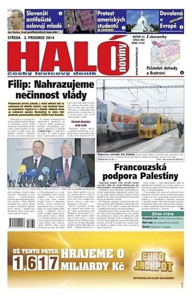 Haló noviny - 03_12_2014 - Elektronické noviny