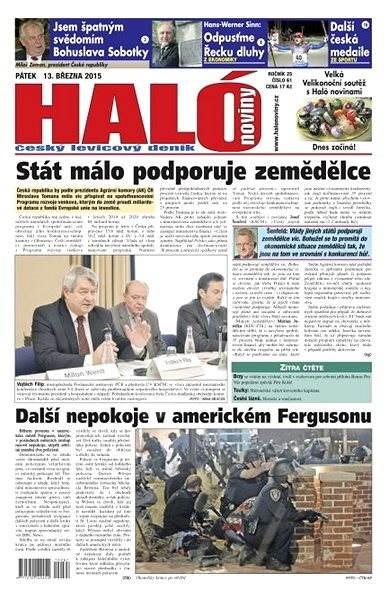 Haló noviny - 13_03_2015 - Elektronické noviny