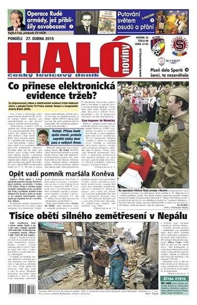 Haló noviny - 27_04_2015 - Elektronické noviny