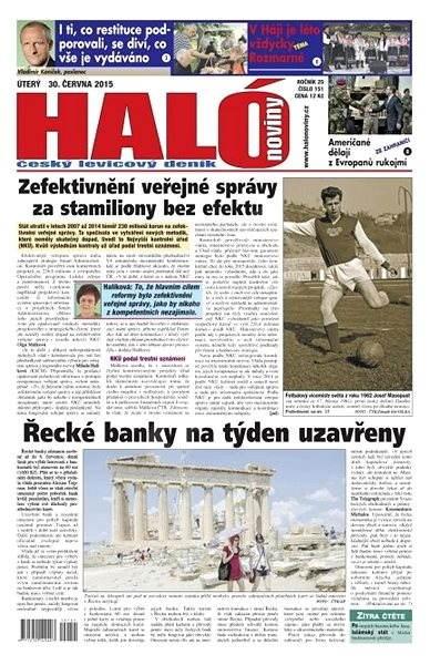 Haló noviny - 30_06_2015 - Elektronické noviny