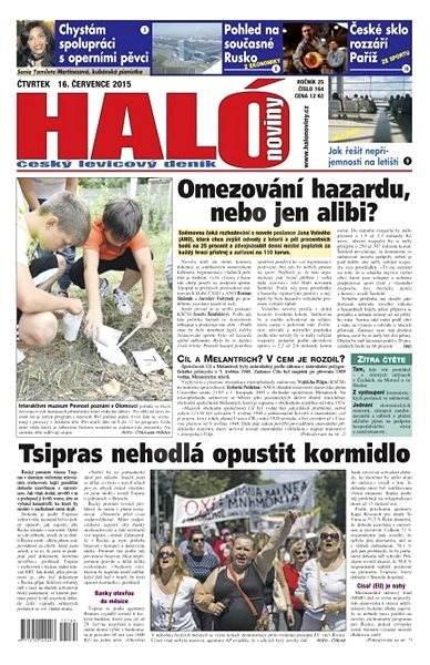 Haló noviny - 16_07_2015 - Elektronické noviny