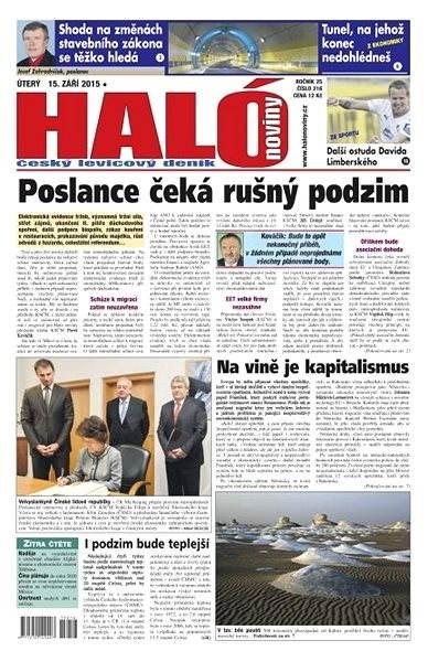 Haló noviny - 15_09_2015 - Elektronické noviny