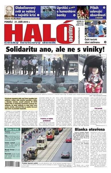Haló noviny - 21_09_2015 - Elektronické noviny
