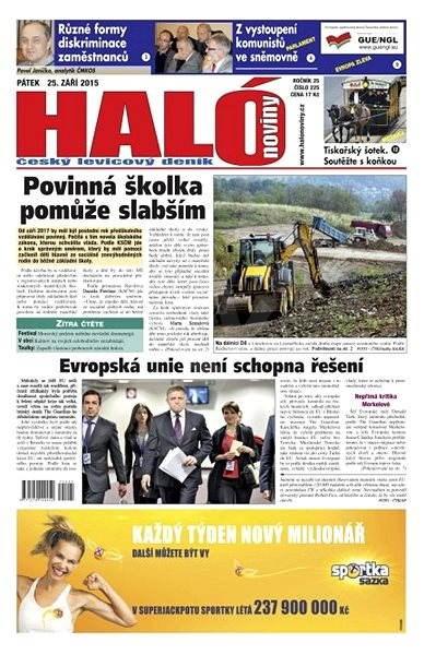 Haló noviny - 25_09_2015 - Elektronické noviny