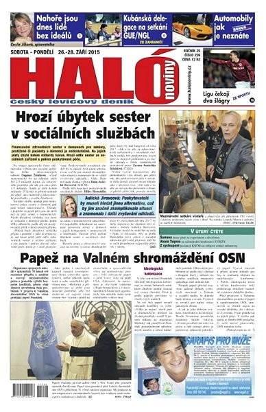 Haló noviny - 26_09_2015 - Elektronické noviny