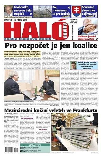 Haló noviny - 15_10_2015 - Elektronické noviny