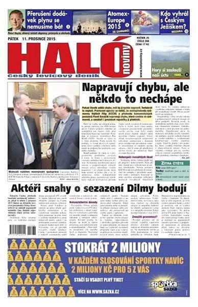 Haló noviny - 11_12_2015 - Elektronické noviny