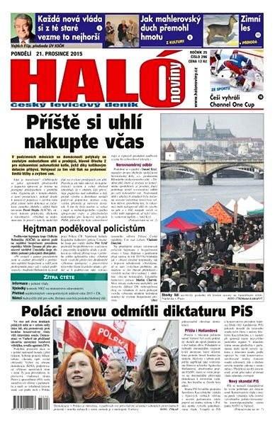 Haló noviny - 21_12_2015 - Elektronické noviny