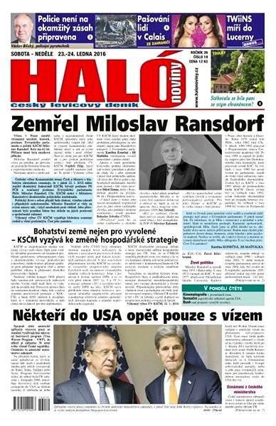 Haló noviny - 23_01_2016 - Elektronické noviny