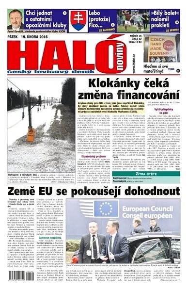 Haló noviny - 19_02_2016 - Elektronické noviny
