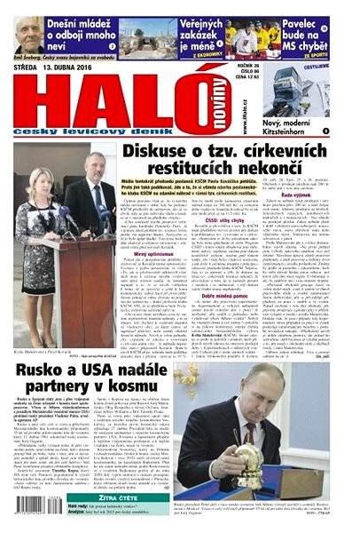 Haló noviny - 13_04_2016 - Elektronické noviny