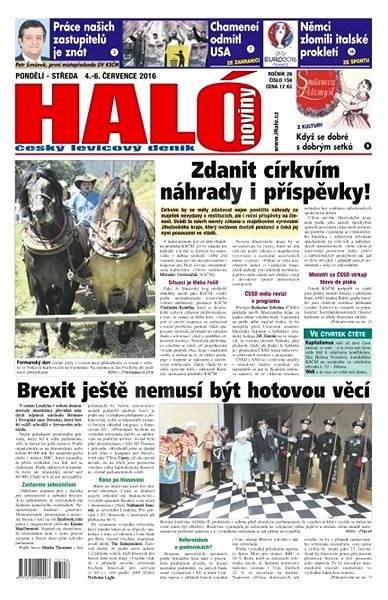 Haló noviny - 04_07_2016 - Elektronické noviny